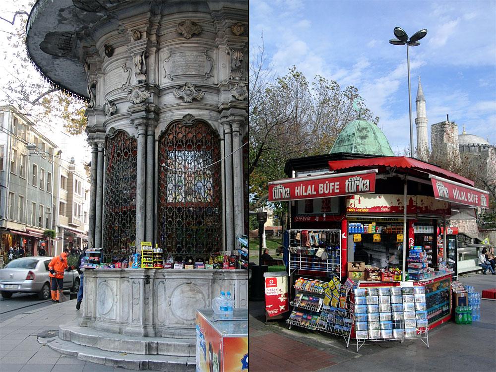 Kioske, älter und jünger, Sultanahmet, Istanbul