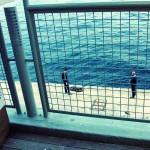 Bosporus. Manchmal türkis. Am İstanbul Modern, Tophane, İstanbul, 2012