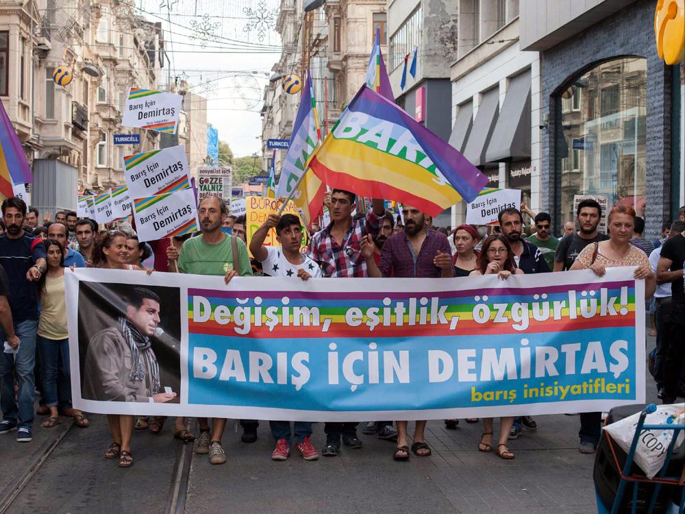 Wahlveranstaltung für Selahattin Demirtaş. İstanbul, August 2014 (Foto: Ralf Rebmann)