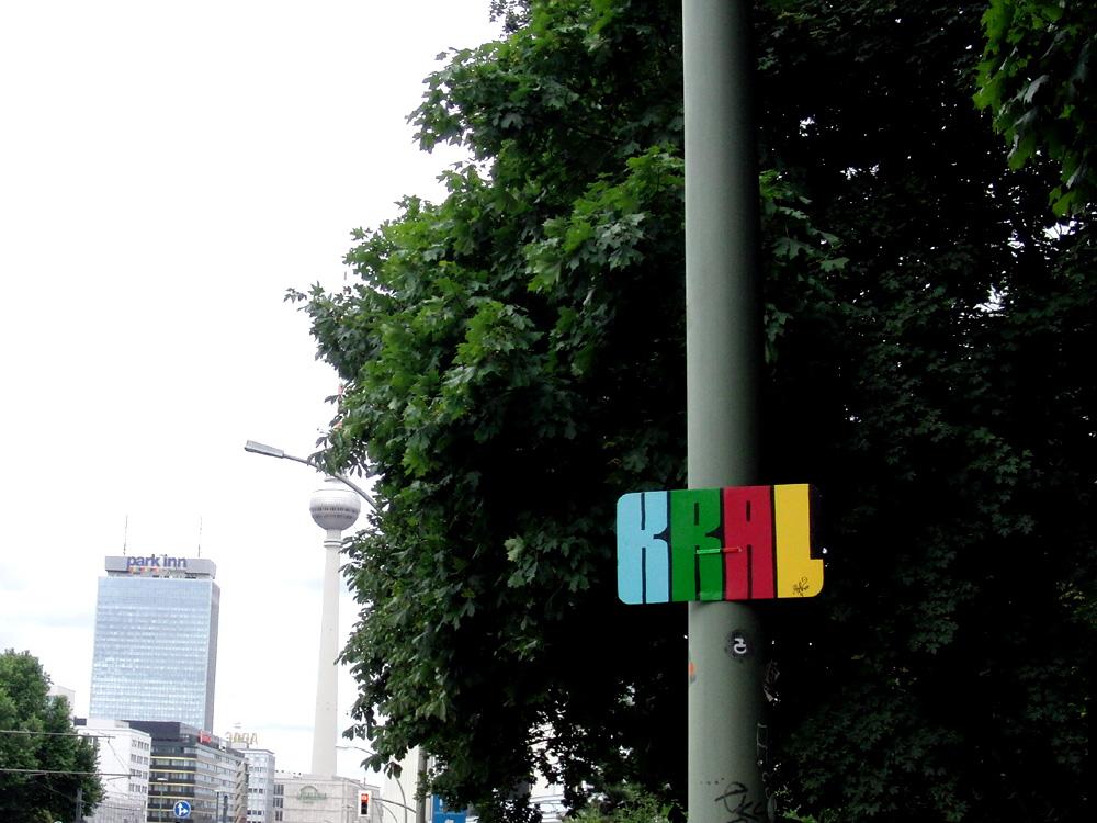 Kral am Lampenmast, Berlin-Mitte 2014