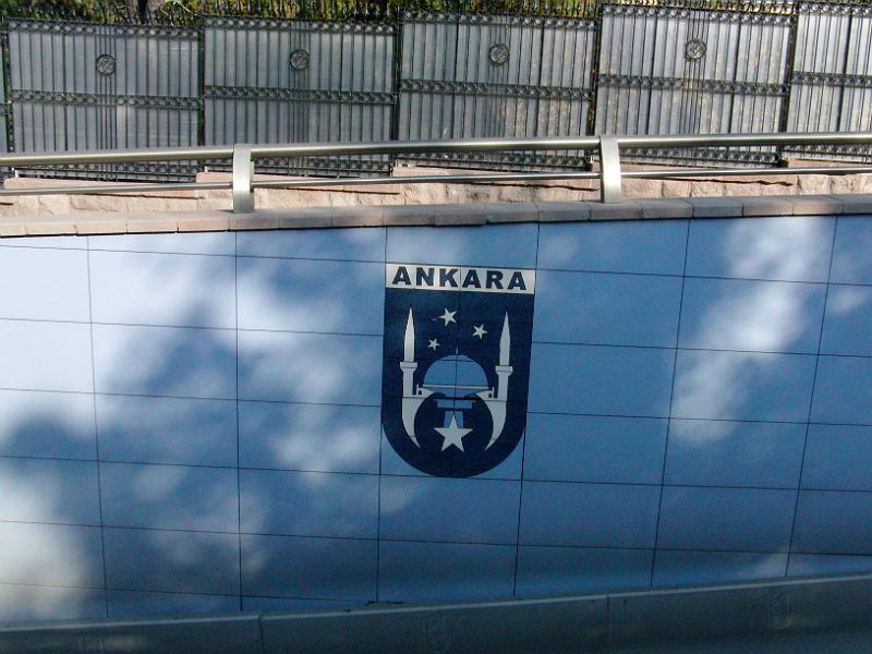 Umstrittenes Stadtemblem Ankaras mit Moschee