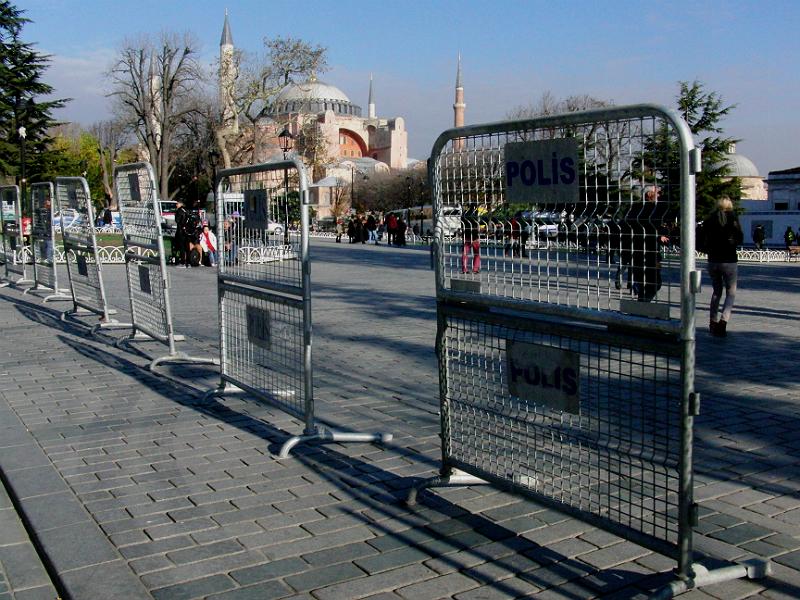 Vorbereitungen zur Absperrung der Hagia Sophia
