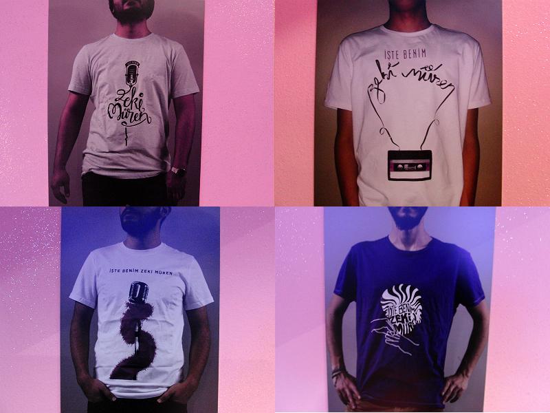 T-Shirts von Grafikdesignstudenten der Mimar Sinan Universität