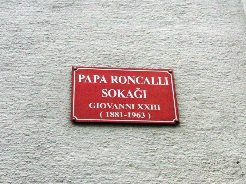 Papa / Papst Roncalli, Adresse der Vatikanischen Vertretung Istanbul