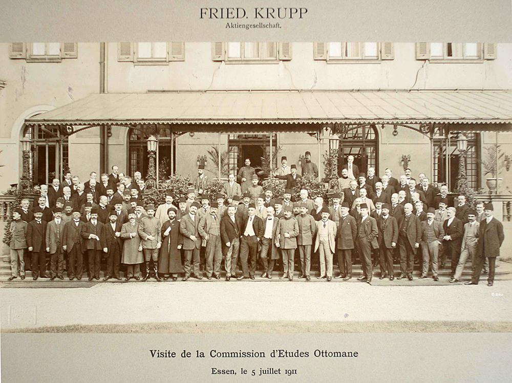 Türkischen Delegation für den Bau der Bagdadbahn bei der Firma Krupp (Werksfotograf der Firma Krupp, 5. Juli 1911, Familienbesitz)