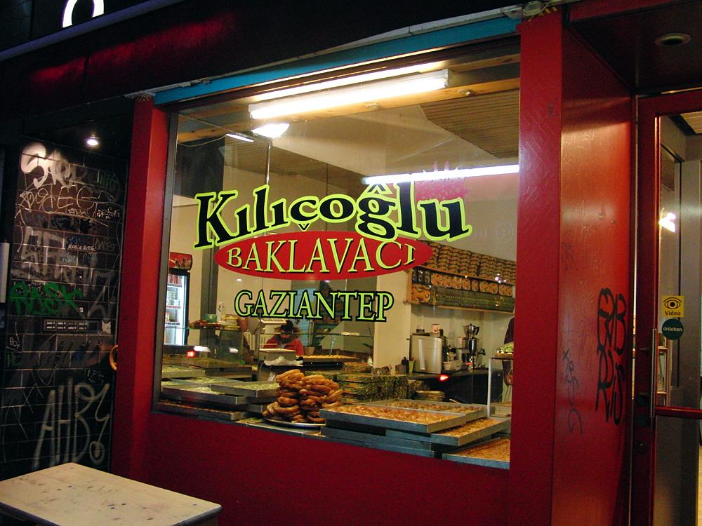 Kılıçoğlu, Sohn des Schwerts, Baklavaci, ein Baklava-Bäcker in Berlin-Kreuzberg 2015