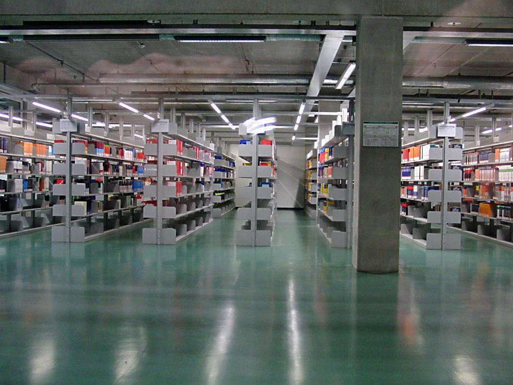 Berlin Teknik Üniversite'sinin Kütüphanesi'nde
