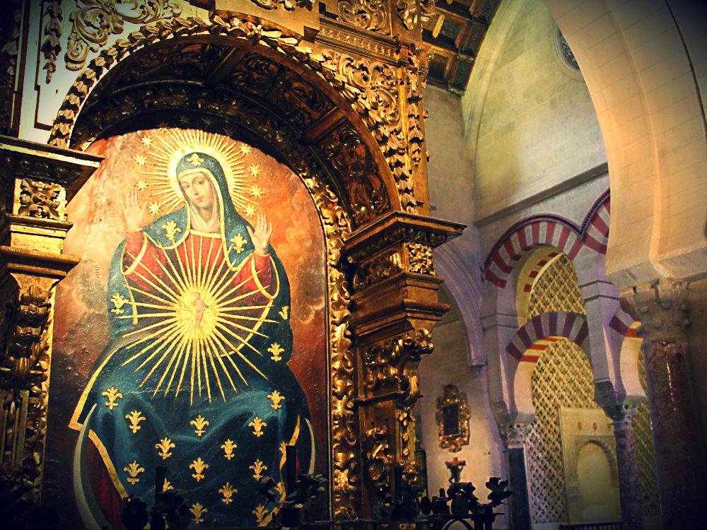 Katholische Madonna, integriert in Moschee, Moschee-Kathedrale Córdoba, Spanien 2015