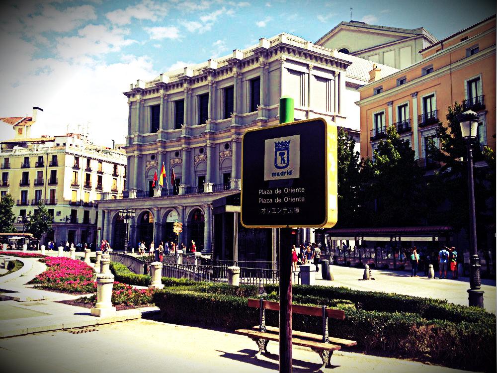 Plaza del Oriente, Madrid 2015