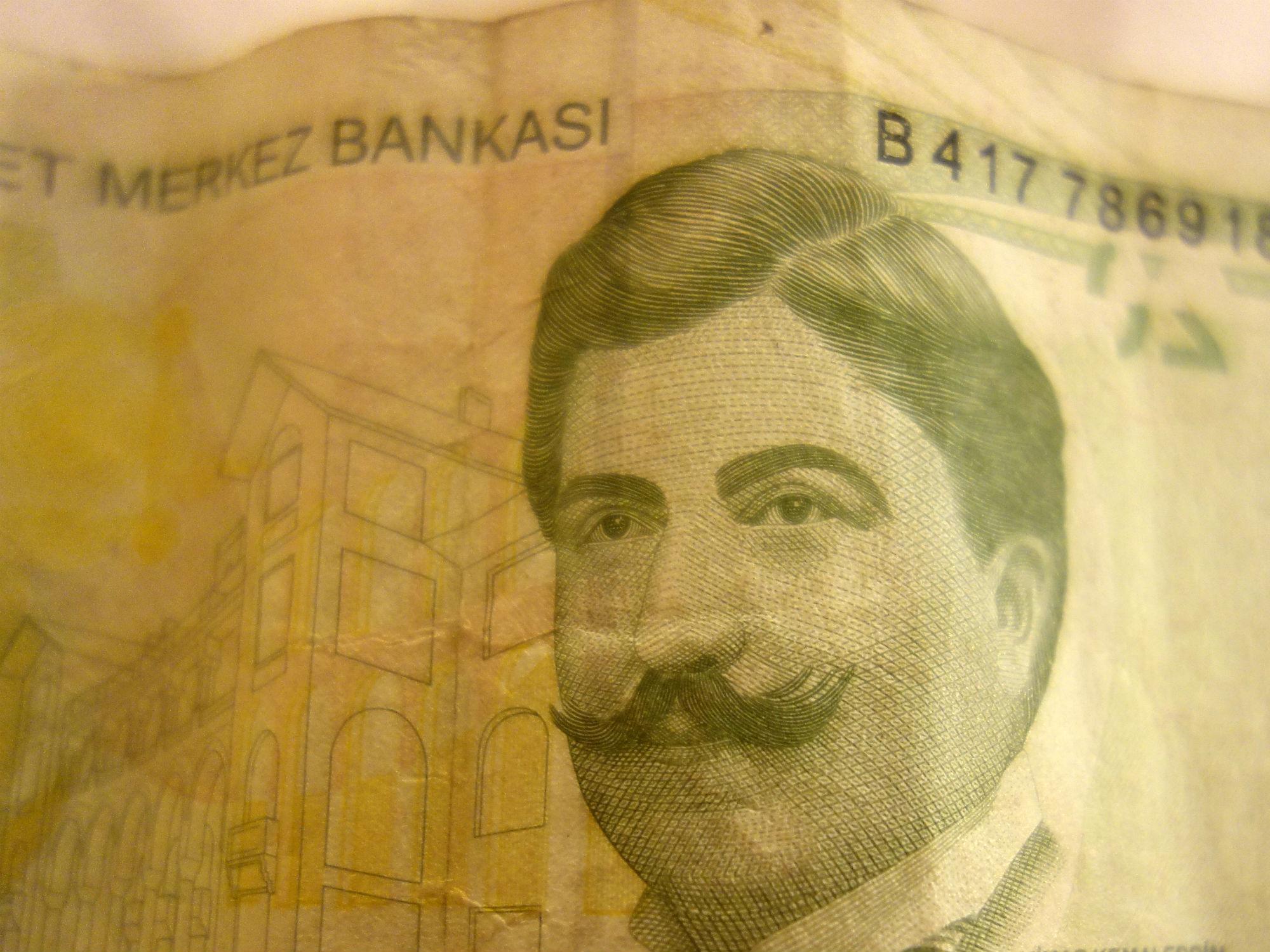 20 Türkische Lira (Banknote, Detail, 2009)