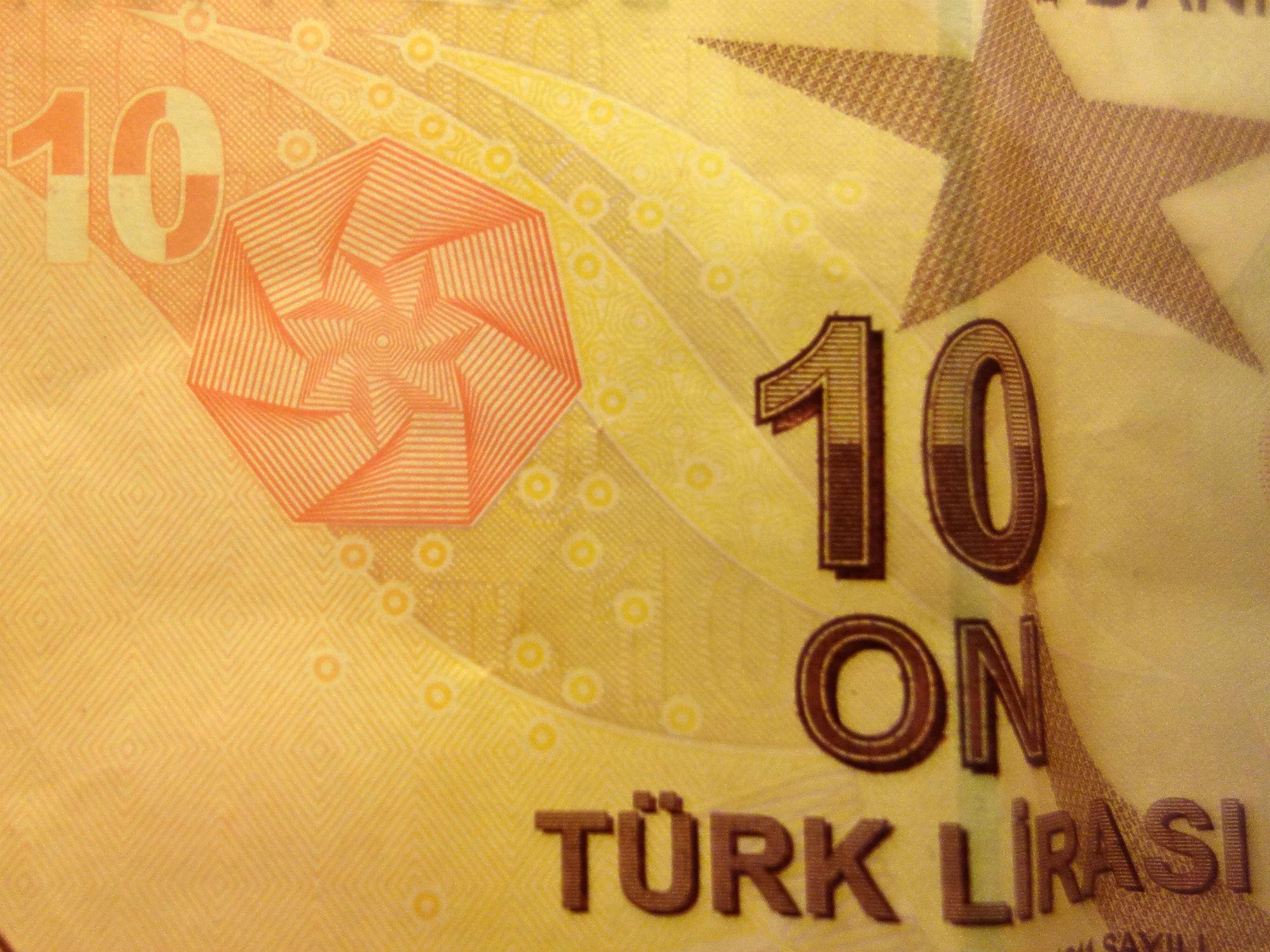 10 Türkische Lira (Banknote, Detail, 2009)