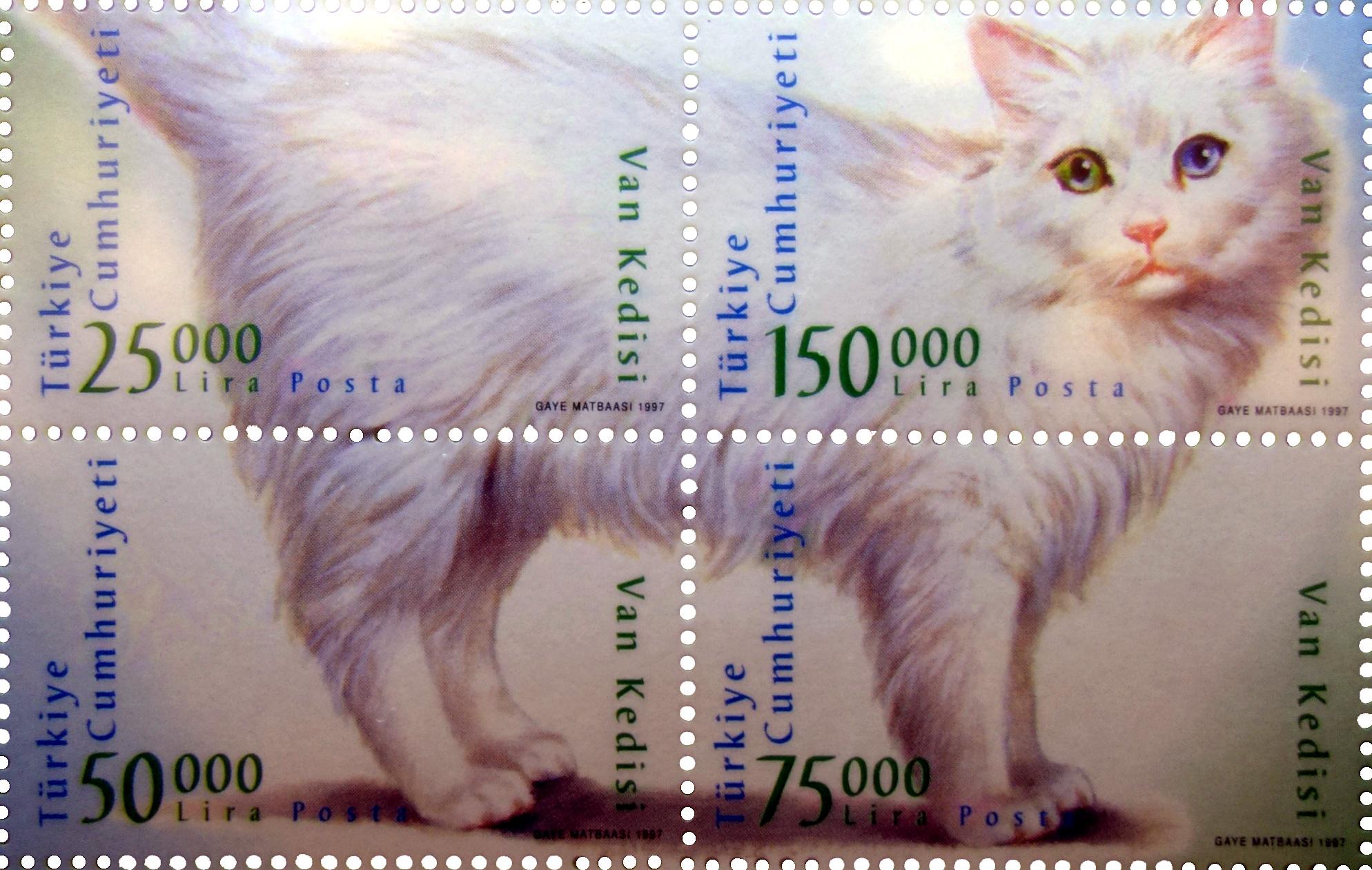 Unbezahlbar: Van-Katze, Van kedisi. Kopf 150.000 TL (Briefmarken, 1997)
