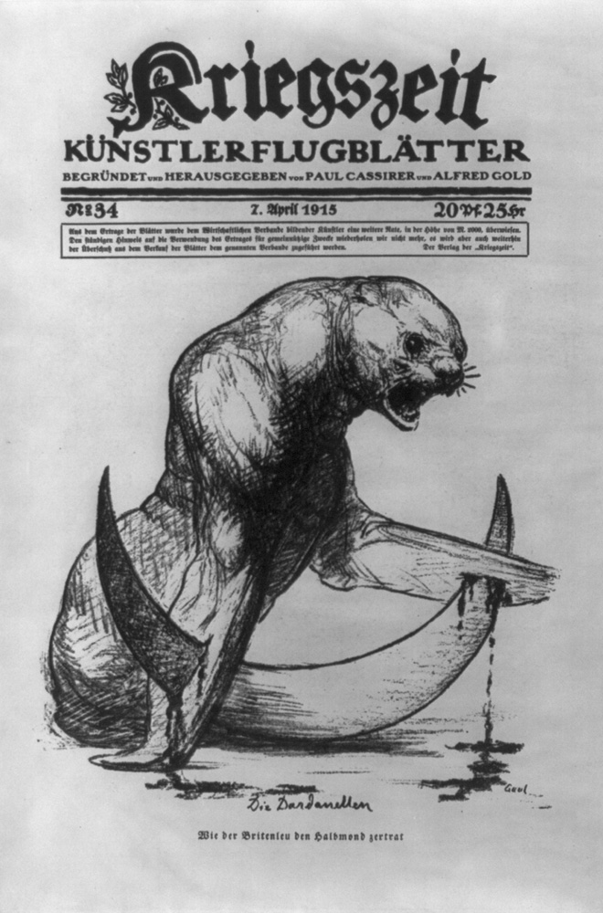 Die Dardanellen: Wie der Britenleu den halbmond zertrat (1915) Library of Congress