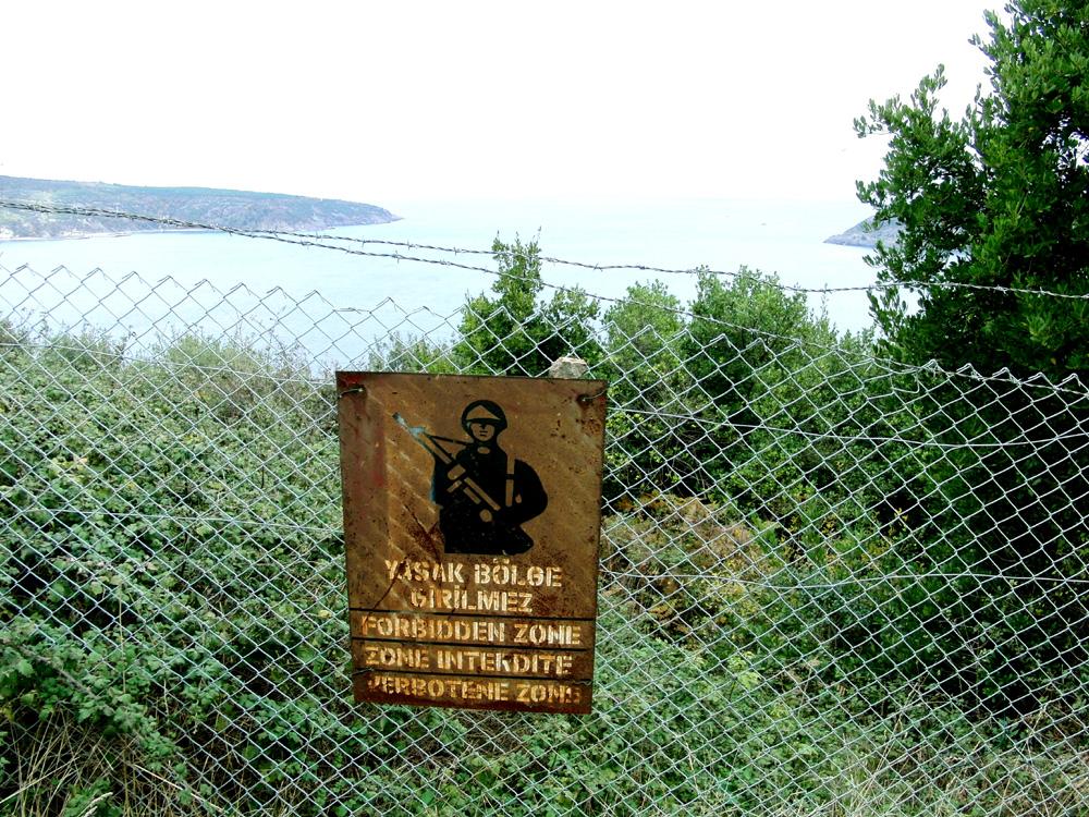 Militärisches Sperrgebiet an der Bosporus-Mündung zum Schwarzen Meer