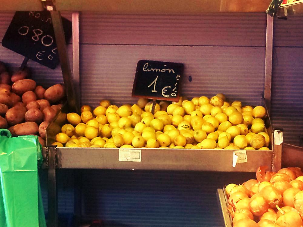 Limon, limón, Zitrone. Malaga 2016