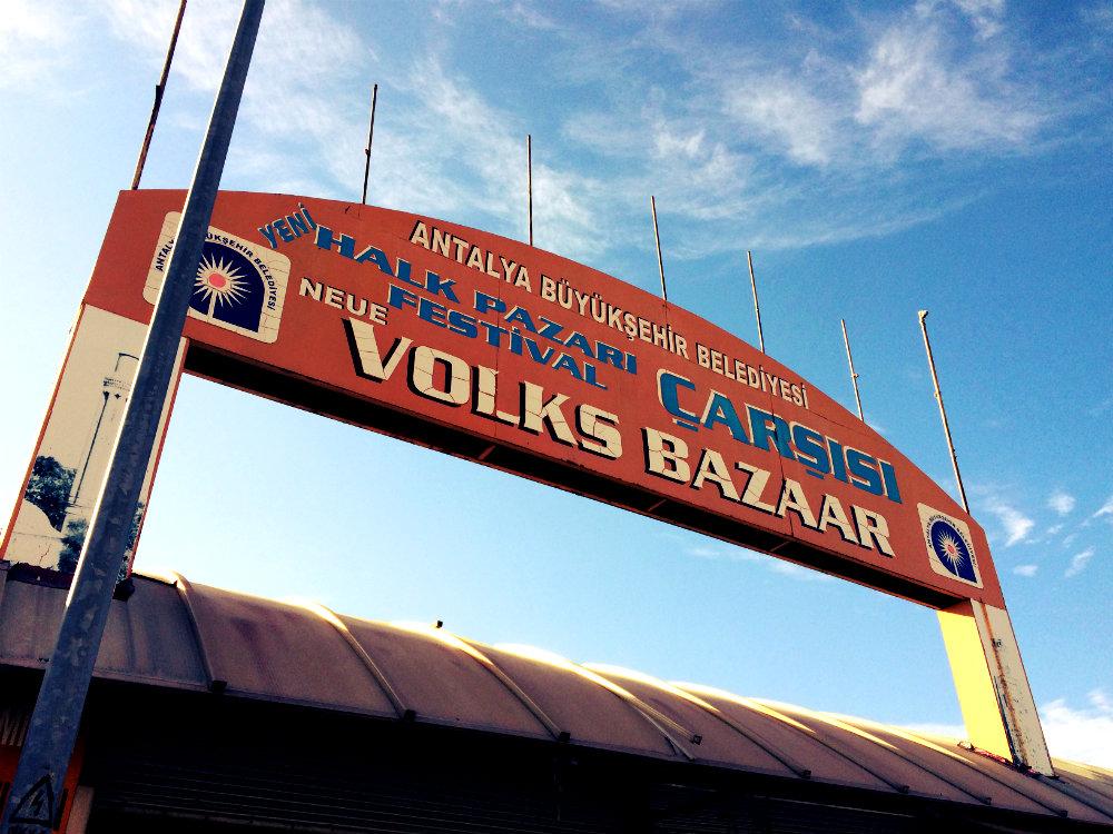 Wenig deutsche Spuren in Antalya: Neue Volks Bazaar