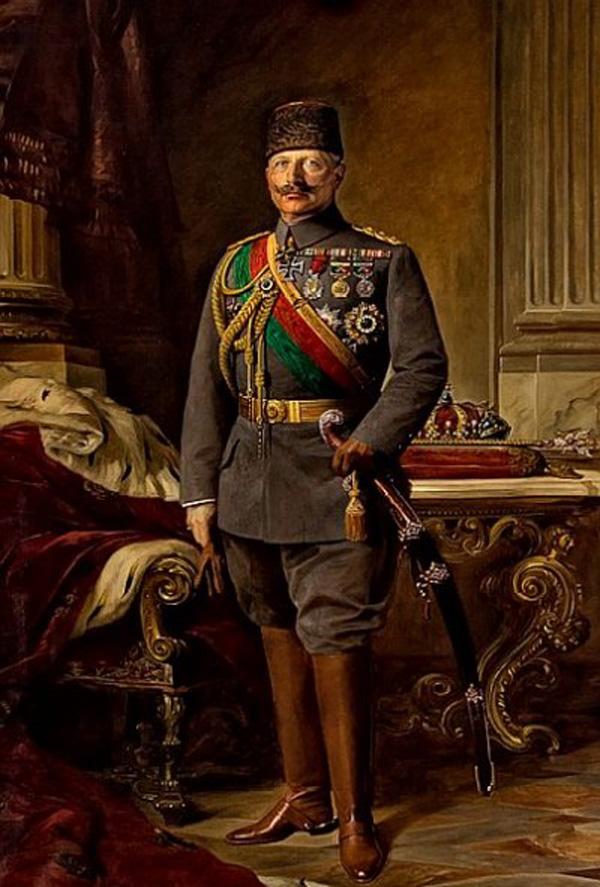 Kaiser Wilhelm II. in türkischer Uniform, Gemälde von Max Fleck, 1916. Bild: Deutsches Generalkonsulat Istanbul