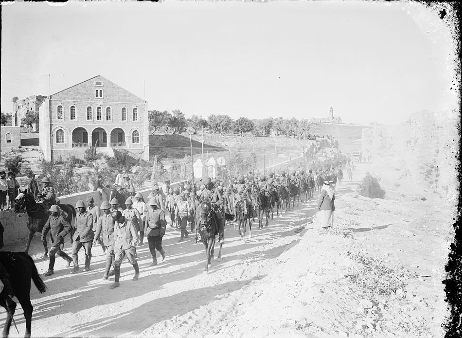 Deutsche und türkische Gefangene, Jerusalem 1917, © G. Eric and Edith Matson Photograph Collection, Library of Congress Prints and Photographs Division Washington