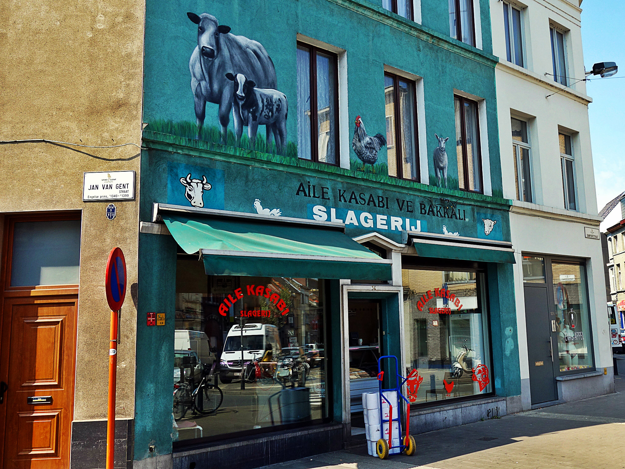 Aile Kasabı ve Bakkalı Slagerij, Gent 2018