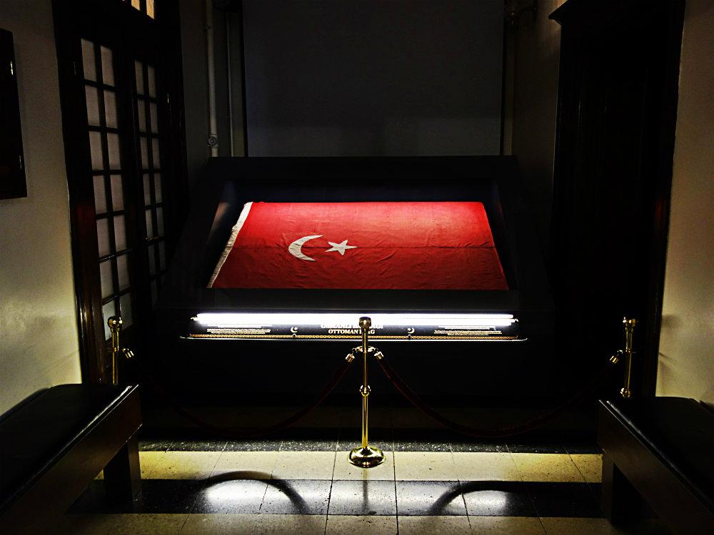 Osmanische Flagge, Damaskus 1918, Ankara 2018